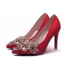 2017 women sexy red high heel shoes bridal wedding shoes