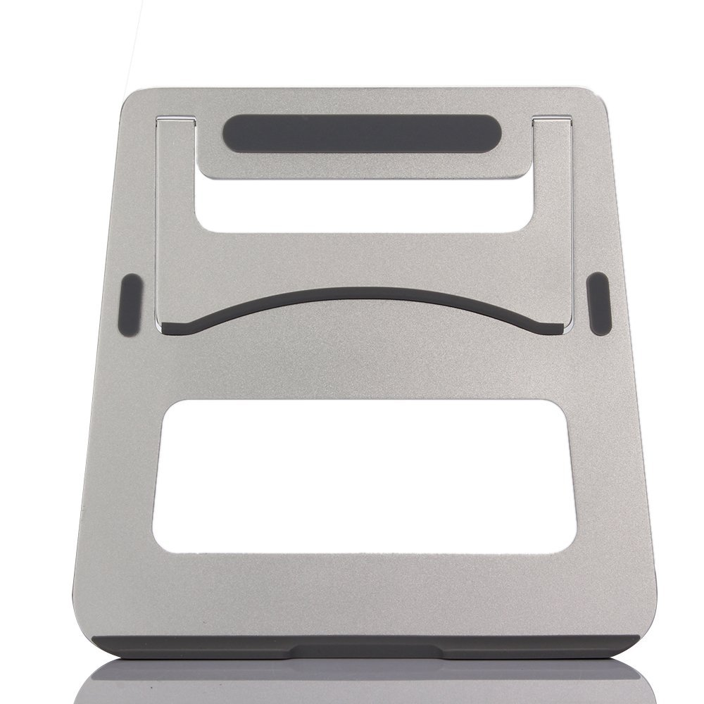 KONKY Macbook Stand - Foldable and Portable Aluminum Alloy Notebook Laptop Holder Compact Universal Fit for PC Macbook Computer and iPad, Silver