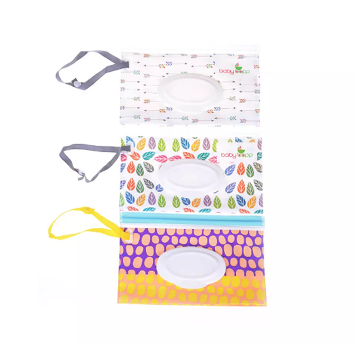 Baby Care Professional Sale 1 Clutch And Clean Wipes Carrying Case Eco-friendly Wet Wipes Bag Clamshell Cosmetic Pouch Easy-carry Snap-strap Wipes Container