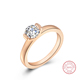 Cubic Zirconia Rings Pure Silver Online Rings Jewelry Women Wedding Ring