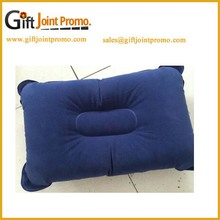 Fashion design flocking air flling inflatable pillow
