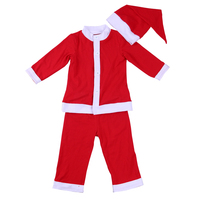 New Designs a Kids clothes of Smocked Red top And red Pants Christmas Boutique Santa Claus outfit
