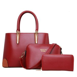 G-162 China Pu 3 in 1 set New Style Fashion Ladies Hand bags alibaba china market