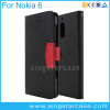 Book Style Wallet PU Leather Flip Phone Case For Nokia 6 Cover