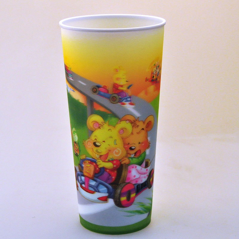 McDonald Sedex Walmart China Manufacture Cheap Hard Magic Change Color Printing 3d Plastic Cup With Lid And Straw For Kids