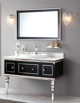 Style Selections Black Stainless Steel Bathroom Mirrors Cabinets