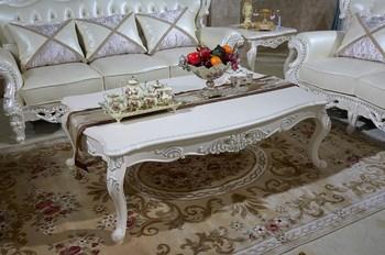 Bisini Italian Solid Wood Coffee Table, Luxury White Centre Tea Table,  European Style Coffee