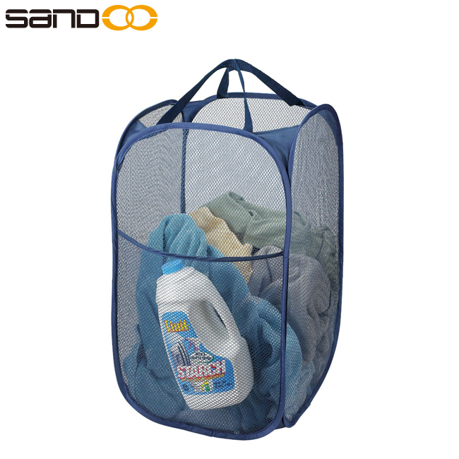 Hot-Selling High Quality Mesh Pop Up Laundry Hamper for Sale, Cheap Mesh Bag Laundry