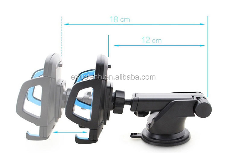 Expanding Arm Suction Cup Car Phone Holder; One Touch Bracket Mobile Phone Holder for Office Home Car