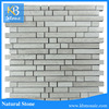 Gray White Marble Mosaic Tiles wooden grey strip Wall Mosaic Bathroom Tile