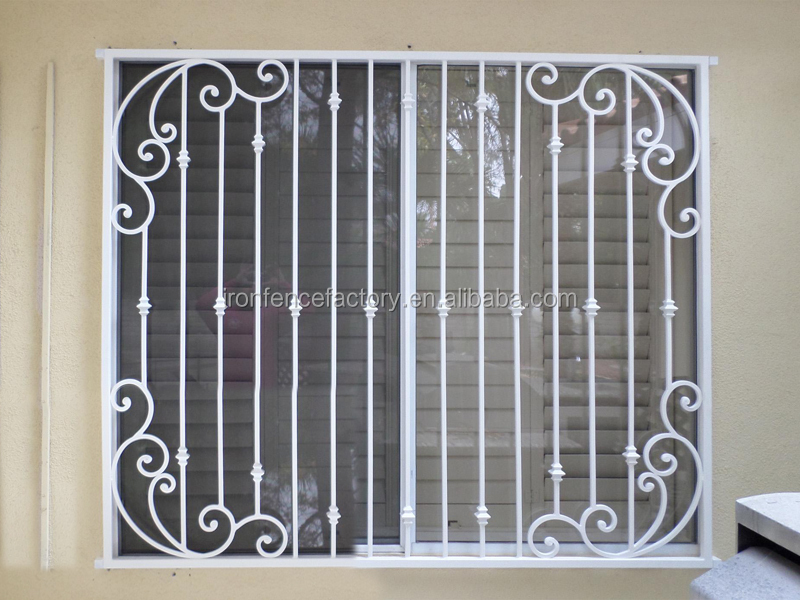 2016 decorative iron window grill design aluminium windows for Metal window designs