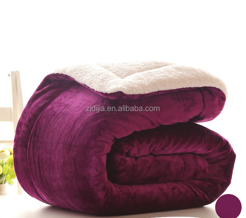 100 polyester super soft printing fleece warming blanket for winter