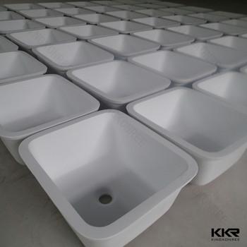 Resina Piedra Cuencas Cocina,Blanco Piedra Artificial Fregadero De ...