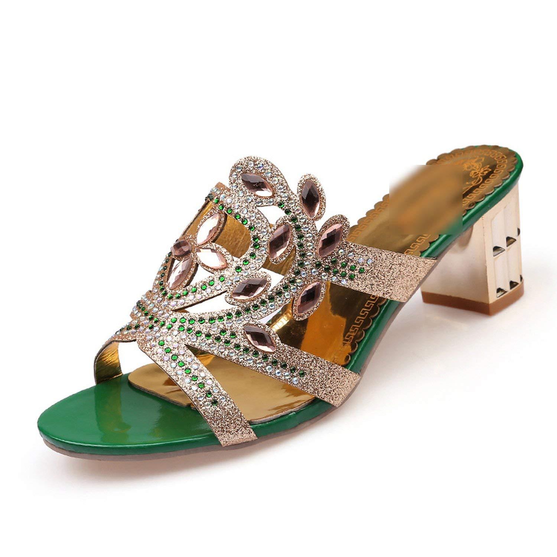 243941b961 New-Loft Summer Fashion Flower Rhinestone Cut-Outs Women High Heel Sandals  Party Dress