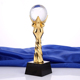 Customized Metal Champions Trophy With a Crystal Football For World Cup Trophy Sports Souvenirs Soccer Awards Cups
