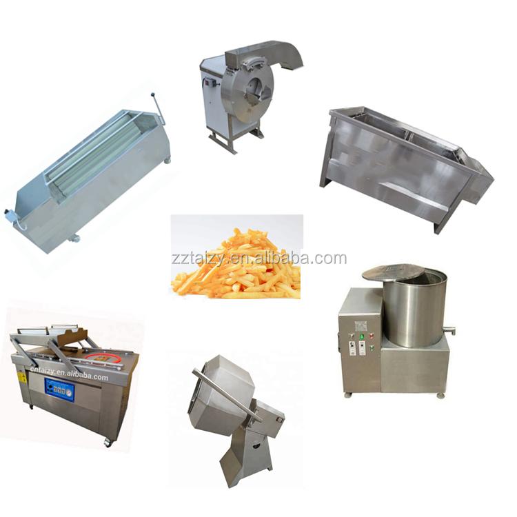 Rekabetçi fiyat patates gevrek üretim hattı dondurulmuş patates kızartması işleme ekipmanları