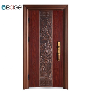 China low prices 2 door steel locker modern exterior double pure entry door