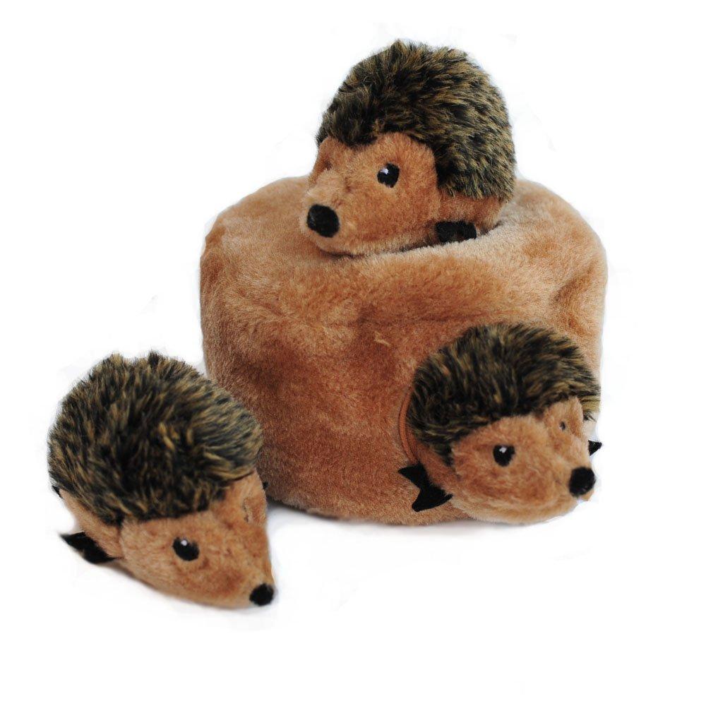 ZippyPaws Burrow Squeaky Hide and Seek Plush Dog Toy, Bird Nest