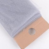 """NST 54"""" X 10 yards Premium Glitter Tulle Fabric Bolt (Silver)"""