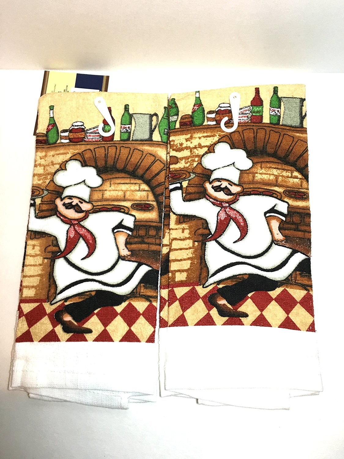 Get Quotations · Italian Fat Chef Kitchen Towels Kitchen Towel Set (set Of  2)