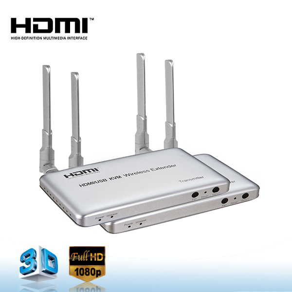 High Quality USB HDMI KVM Wireless Extender 50m HDMI Extender IR Extender