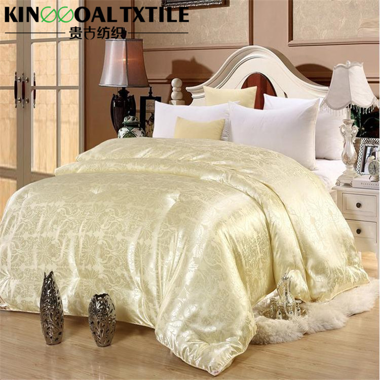 Double size 100% tussah Silk quilts Comforter with silk Cover jacquard or plain
