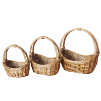 Boat shape cheap bulk wicker empty gift basket