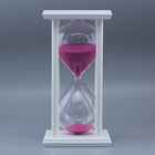Wholesale Souvenir Customization Of High Quality Wooden Frame Sand Timer Crafts