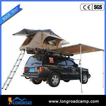 camping portable shower roll out car top side awning