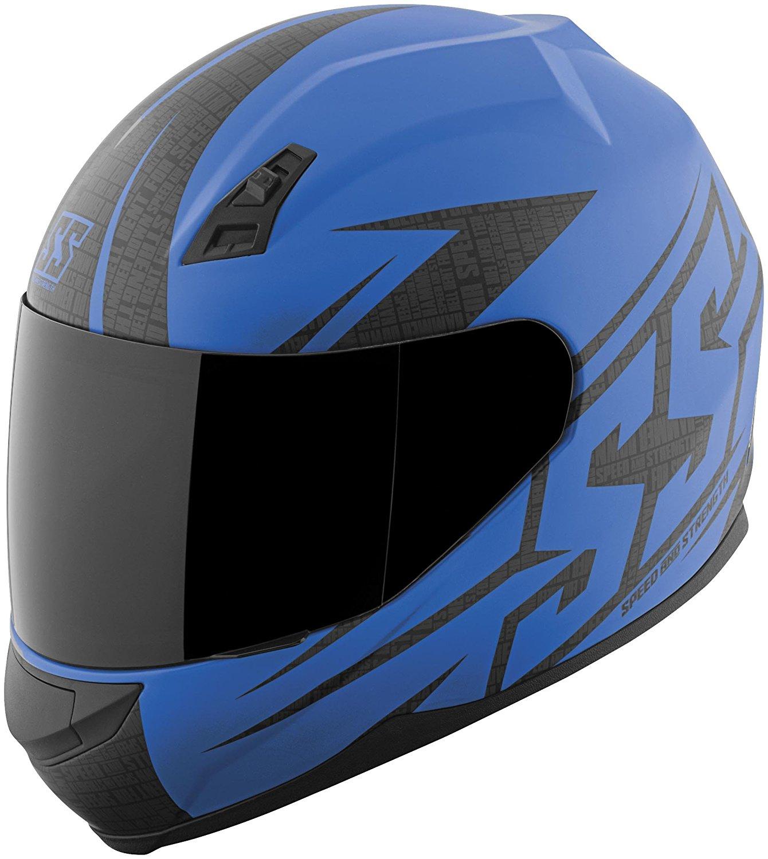 Speed & Strength SS700 Hammer Down Helmet, Distinct Name: Matte Blue, Gender: Mens/Unisex, Helmet Category: Street, Helmet Type: Full-face Helmets, Primary Color: Blue, Size: Md, 871418