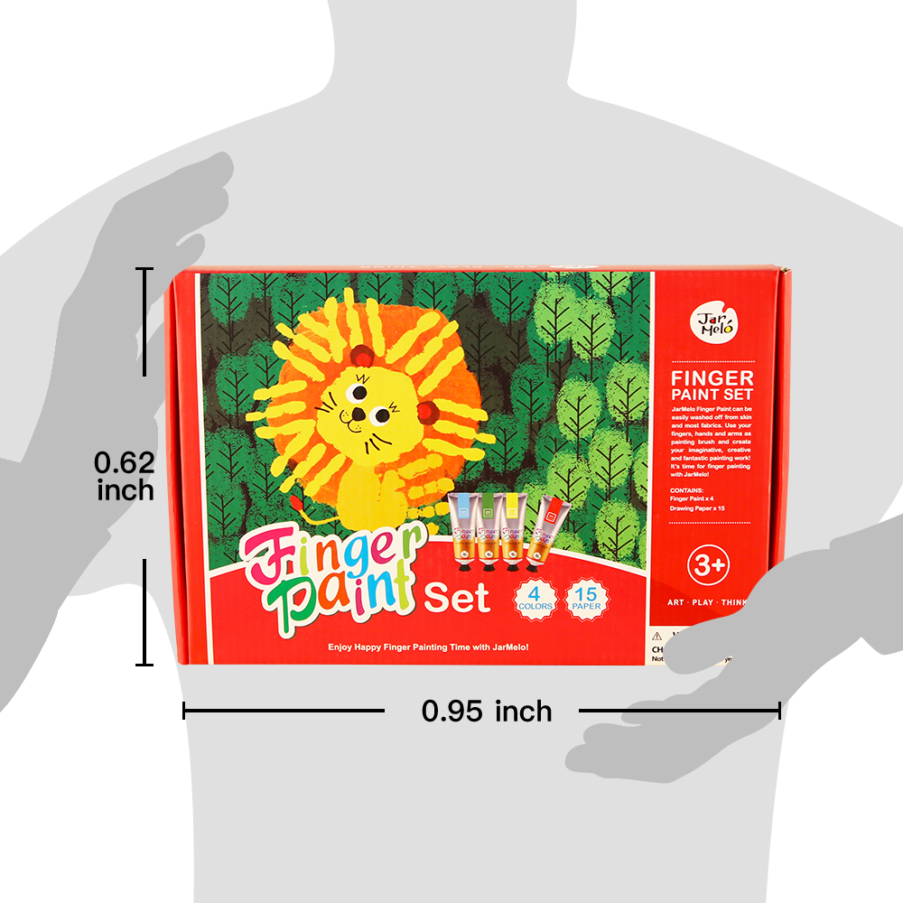 Children's Finger Paint Kit Non-Toxic And Washable Finger Paint With Mix Colors