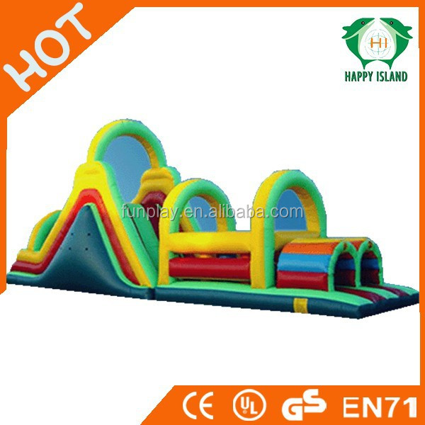 HI Funny game 0.55mm PVC kids inflatable obstacle course,inflatable obstacle course,inflatable floating obstacle