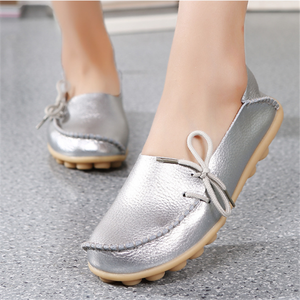 H10063B factory Fashion women shoes leather moccasin-gommino casual lady Flat Shoes