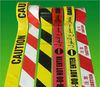 non sticky red and white caution tape safety Warning tape