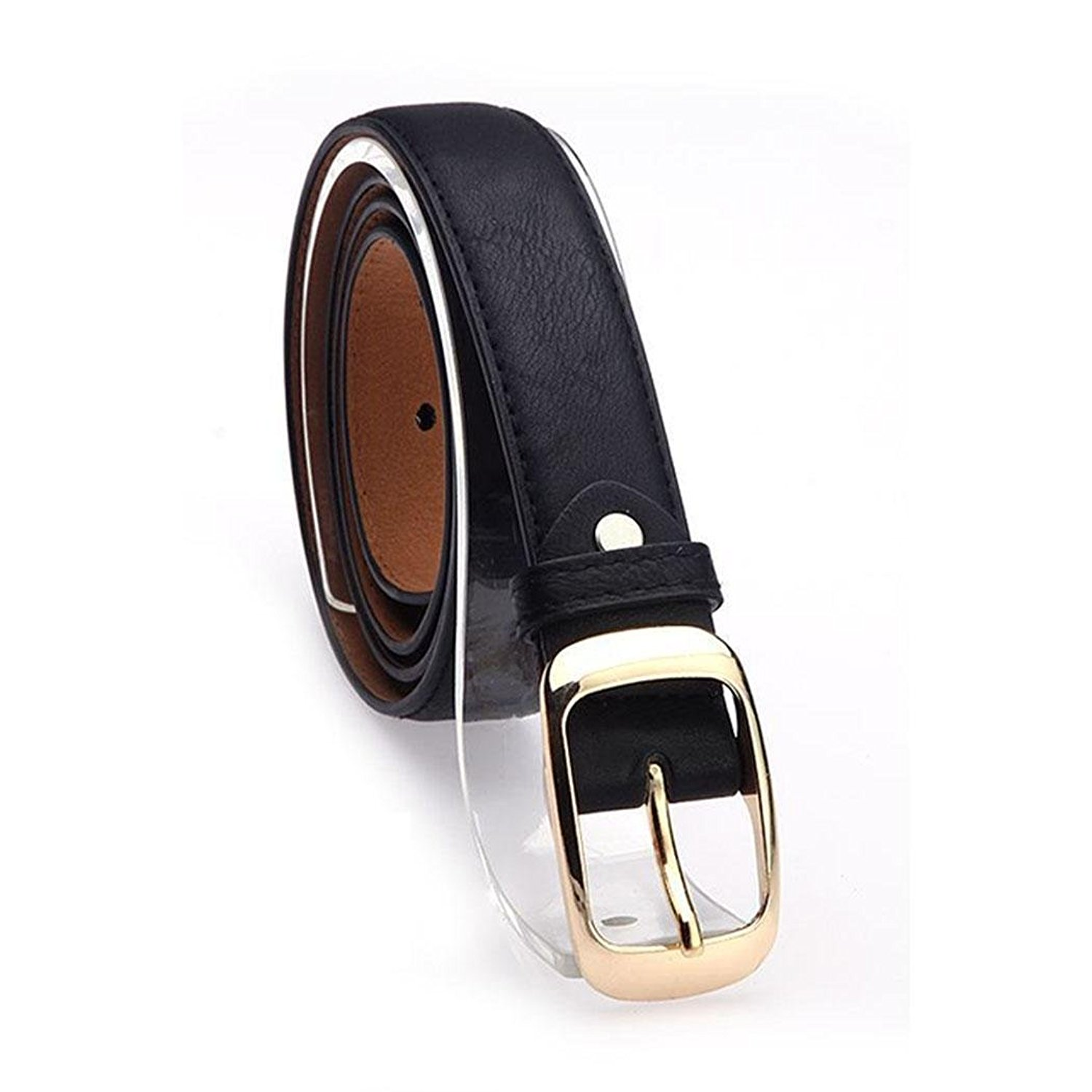 eddd21bff Get Quotations · FANEO adjustable solid color women leopard leather belt  womens fashion black leather belt with belt buckles