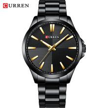 Мужские часы, 2019, люксовый бренд, нержавеющая сталь, модные бизнес мужские часы, наручные часы CURREN, мужские водонепроницаемые часы 30 м, Relojes(Китай)