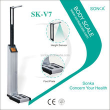 Dialysis Machine For Scale SK-V7 ( Weight Height fat ) Hot Selling Of Body Scale With Coin Acceptor