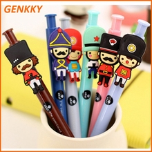 3D cartoon ball pen funny plastic pen with soldier character