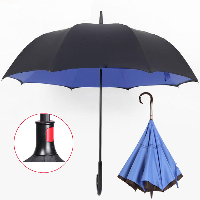 OEM Japanese technology Double Layer Inverted umbrella umbrellas with photo prints