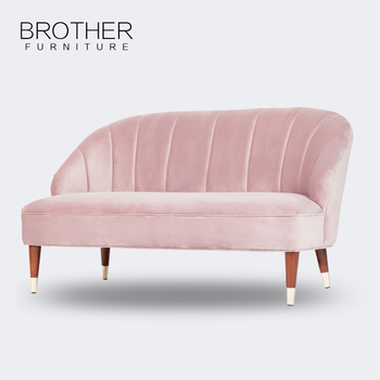 Living Room Furniture Fabric Pink Wooden Sofa With High Quality ...