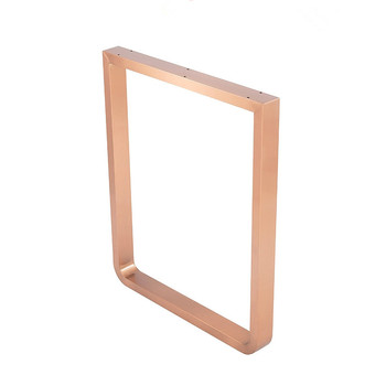 Hot Sell Square Rose Gold Dining Table Leg Brush coffee Table Furniture Leg