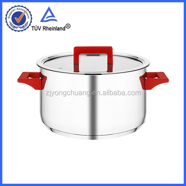 Impact bottom s/s 304 stainless steel stock pot with bakelite side handle cookware