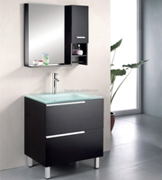 Solid Oak Wood Bathroom Vanity Cabinet with Mirror and Medicine Box