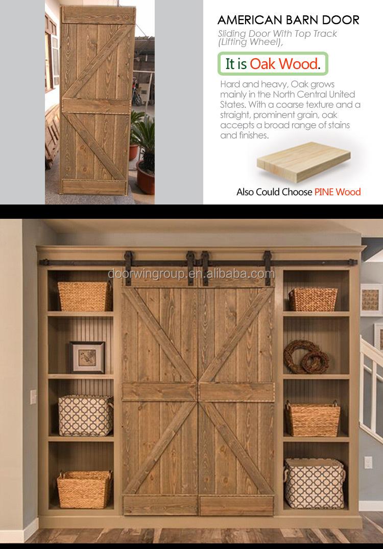 Amerikanischer Eiche Holzschiebe Barn Door Holz Doppel Panel ...