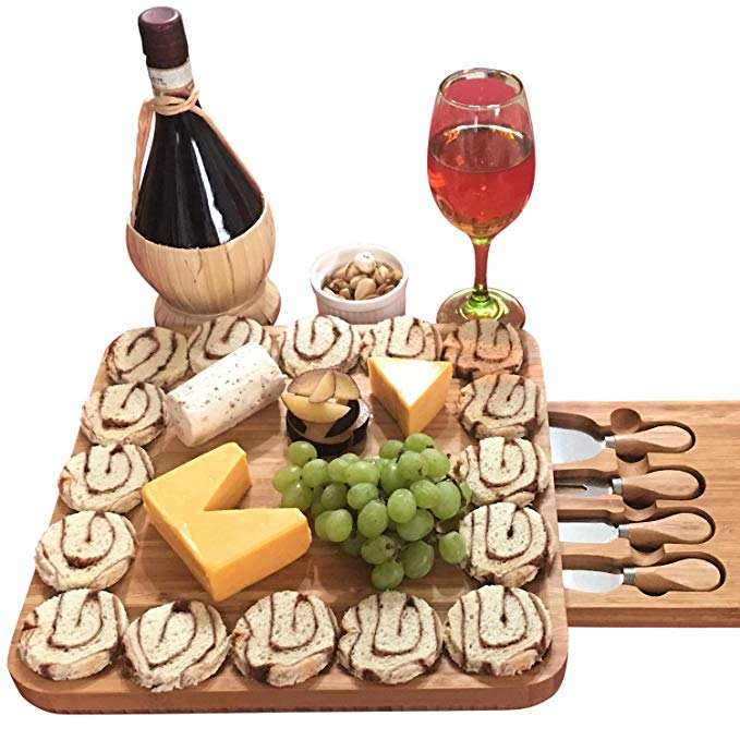 Kitchen Bamboo Cheese Board Set MPS-004 Details 3