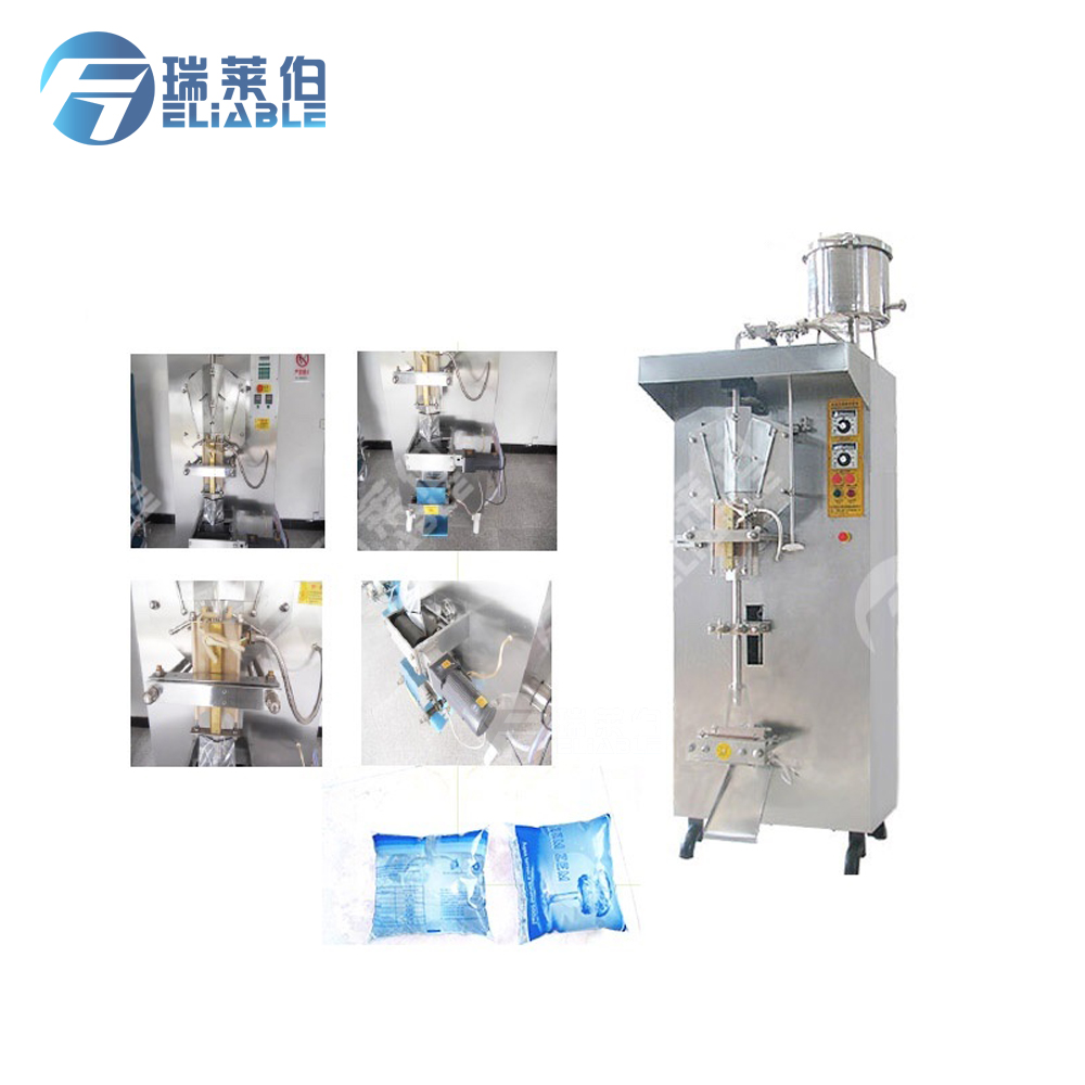Easy to automated operation simple and clear bag filling pure water sachet packing machine