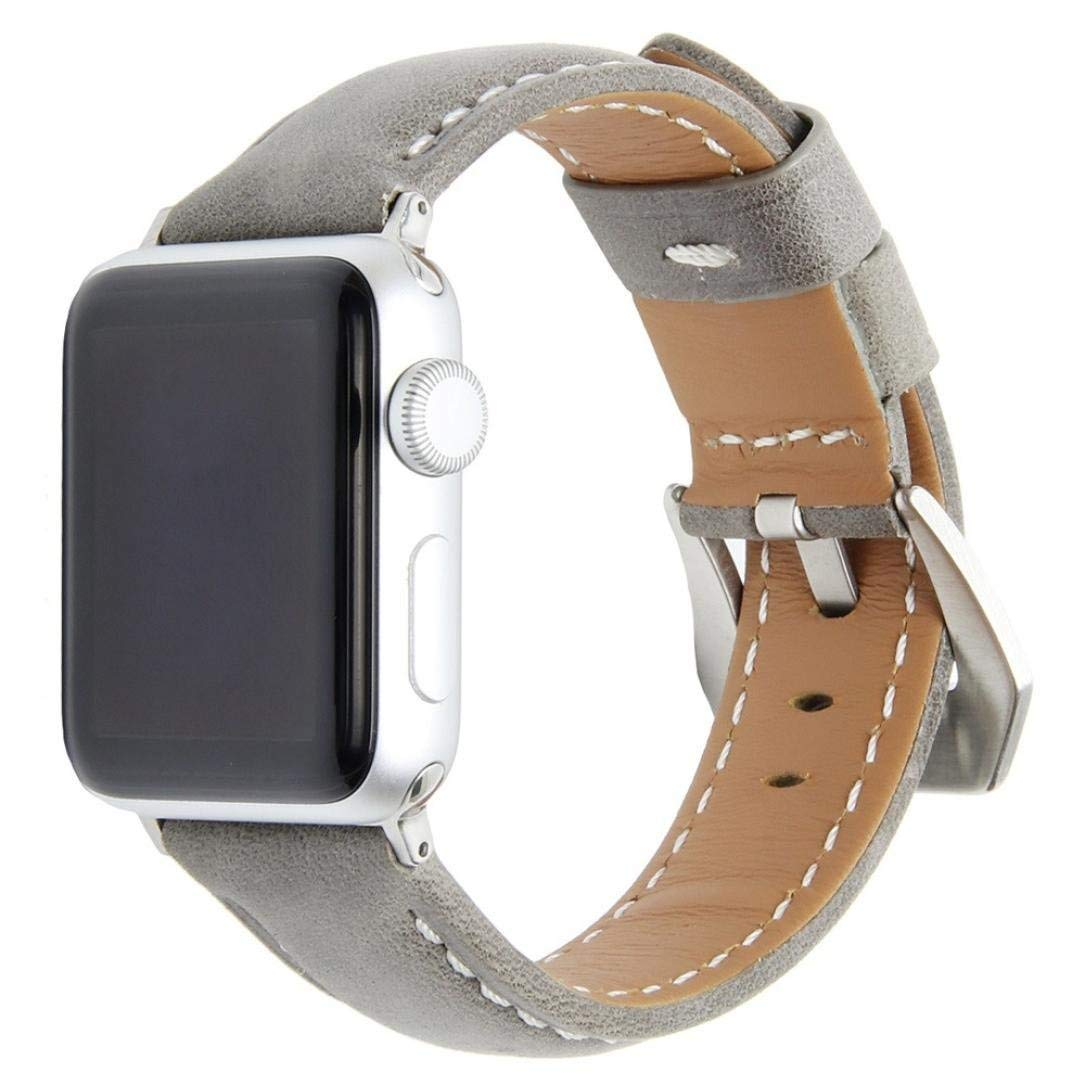 Watch Band for Women Men-Quick Release- Replacement Luxurious Soft Leather Rubber Watch Band,Aurorax Wrist Band Strap For Apple Watch 1/2 (38MM (F)