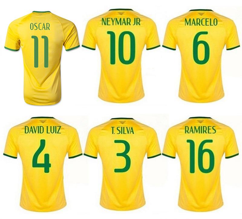 get quotations · neymar jr brazil shirt15 16 brazil jersey 2014 wold cup yellow blue neymar jr osca