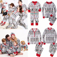 Hot Sale Stripped Family Christmas Pajamas Soft Cotton Christmas Party Sleepwear