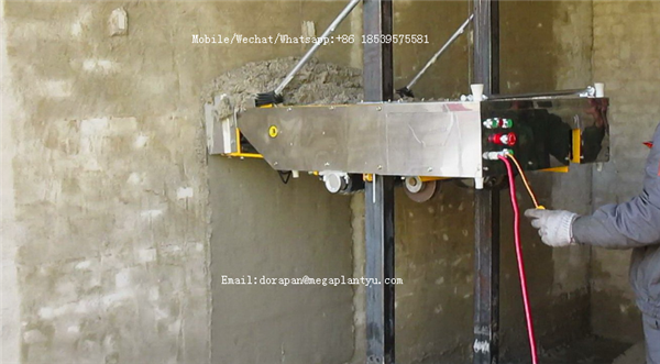 Automatic Stainless Steel Wall Cement Plastering Machine Render
